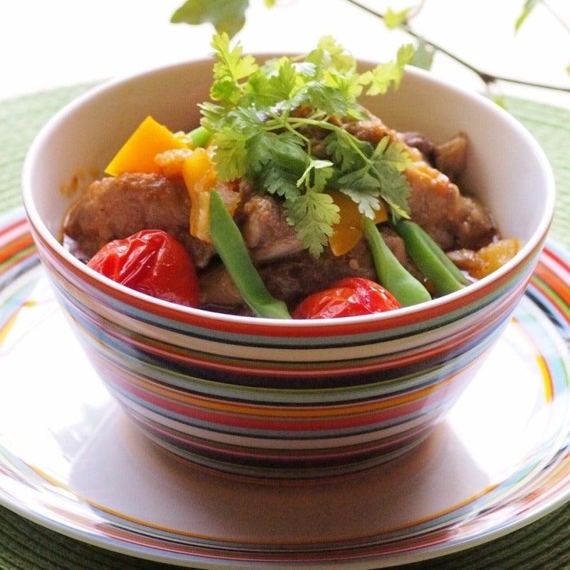 たっぷり夏野菜とスペアリブの煮込み