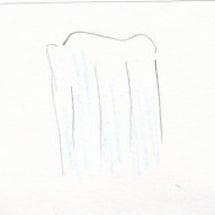 白装束のお坊さんが滝…