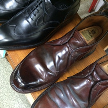 オールデン 靴磨き …