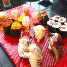 お寿司で父の日の食事…