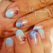 色んな紫陽花ネイル