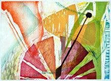 『とけい』木版画2010 700