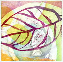 『であい』木版画2010 700