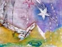『雨音の道』木版画2013 700