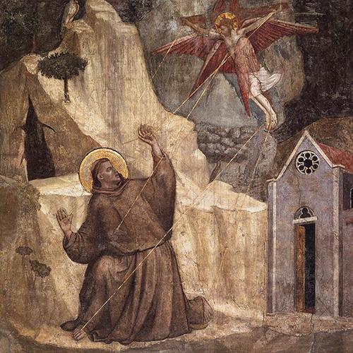 天使から聖痕を授けられるフランチェスコ