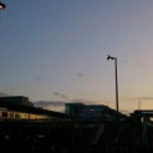 中野駅の夕焼け