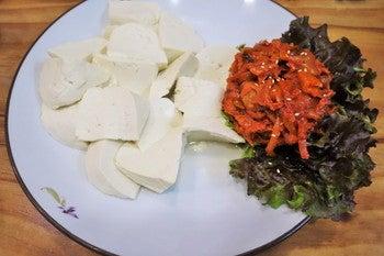 故郷山川 豆腐とキムチ