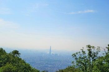 南漢山城 山の景色1