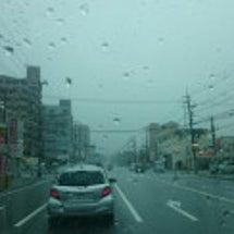 明石でゲリラ豪雨