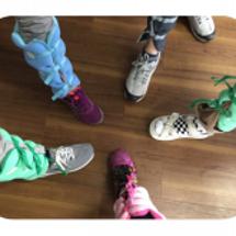 今日の足枕体操