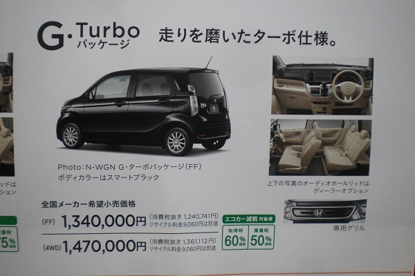 N-WGNターボ4WDの新車価格