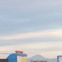 朝焼けが綺麗で富士山…