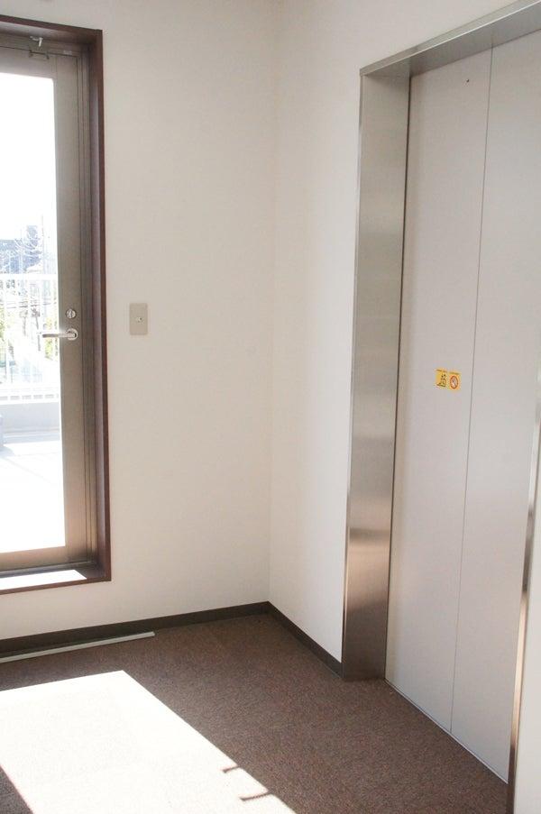 エレベーターホールに花