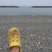 本日は海でスイム練
