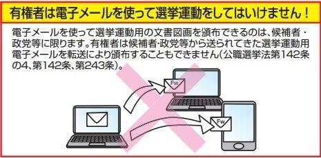 有権者は電子メールを使って選挙運動をしてはいけません!