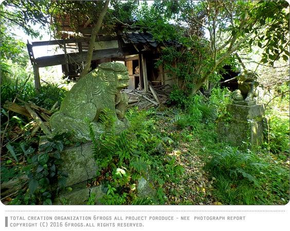6FROGS 廃墟 天津滑山 大山祇神社