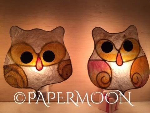 手作りライト教室ペーパームーン東京、フクロウ