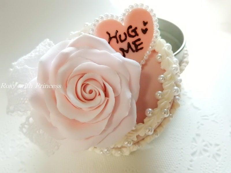 薔薇デコ バラデコ 樹脂粘土薔薇