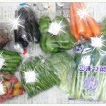 直売所の野菜で(*^…
