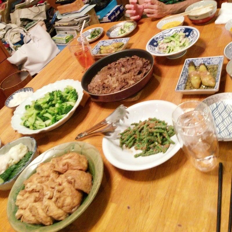 友人を招いて晩御飯