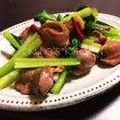 砂肝と小松菜の炒め物