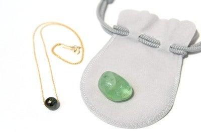 タヒチ産黒真珠とフローライト福袋