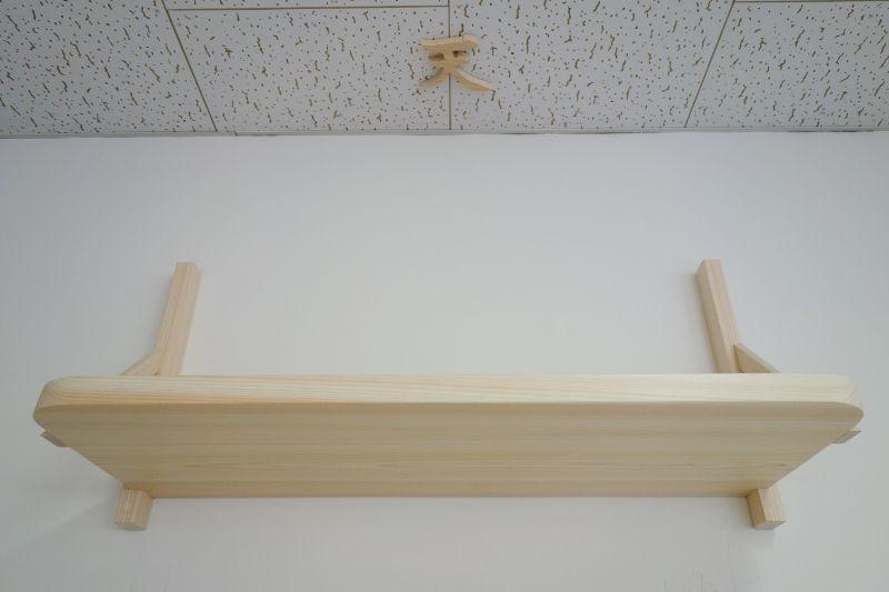 国産檜で作る無垢の神棚板