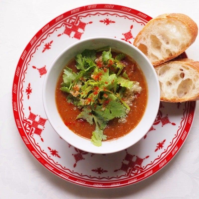 レンズ豆とトマトのスパイシースープ