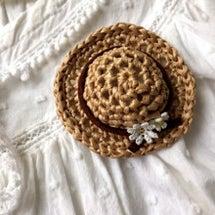 小さな麦わら帽子のブ…