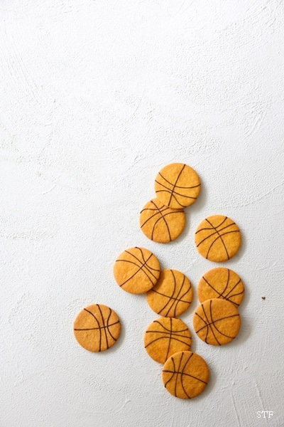 南瓜のバスケットボールクッキー