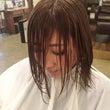 前髪バッサリ