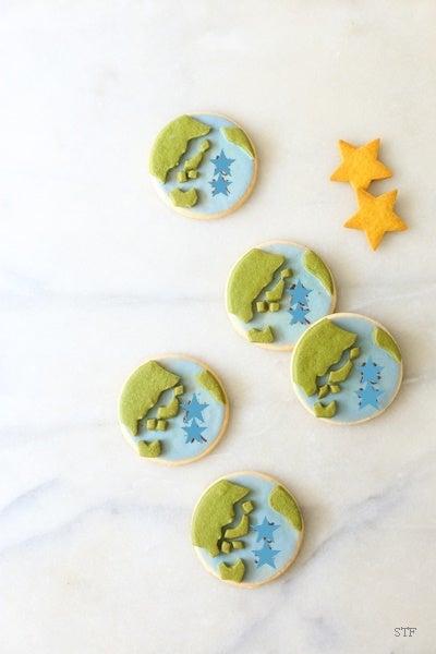 地球モチーフクッキー内祝い
