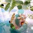 お花のオーバルリング