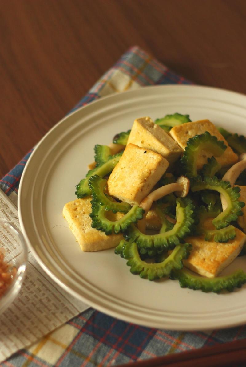 料理写真講座 ゴーヤの柚子胡椒チャンプルー