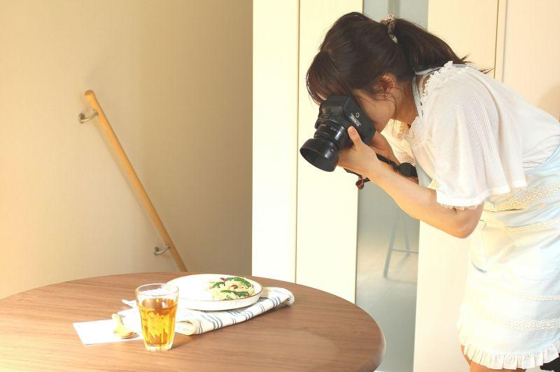 マンツーマン料理写真講座 撮影風景