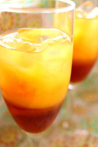オレンジのアイスセパレートティー カフェめし