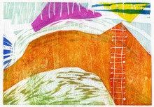『なかなか空には届かない』木版画2011 800 ④
