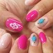 鮮やかピンクのボヘミ…