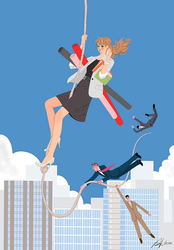 仕事のできるビジネスウーマン OL 会社 女性