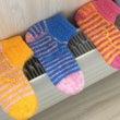 手編みの毛糸の靴下