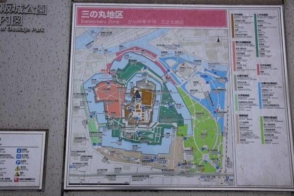 大坂城 案内図