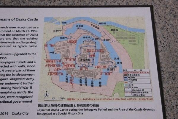 大坂城 建物配置図