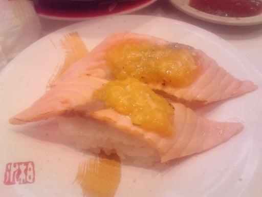 回転寿司海鮮三崎港-サーモンねぎ味噌炙り-01