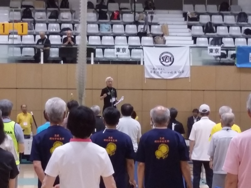 小杉審判長、競技説明