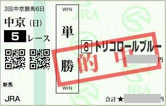 2016年7月17日中京5R単勝