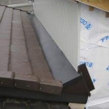 屋根の谷部分の施工が…
