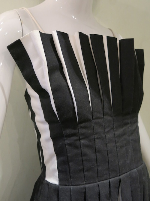 ヴィンテージ コットン ドレス 白黒 バイカラー