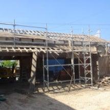 納屋の改修と倉庫の土…