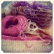 麻ひもバッグを編む