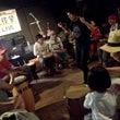 収穫祭でドラムサーク…